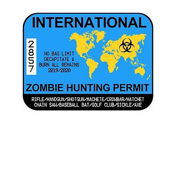 International Zombie Hunting Permit 2019/2020 by zorpzorp