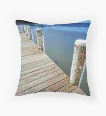 Dock of the bay Throw Pillow