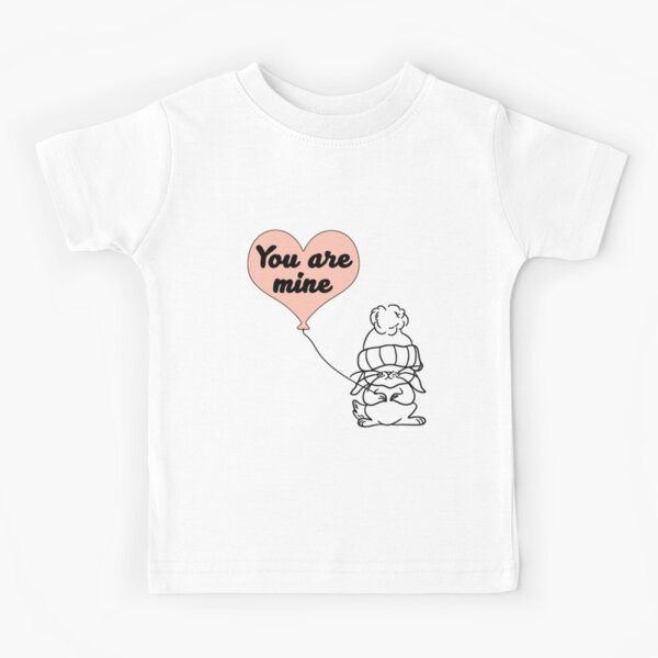 I Love Heart Hares Kids T-Shirt