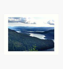 View From Saltspring Island Art Print