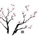 «Flores de cerezo de Sumi-E» de Maike Vierkant