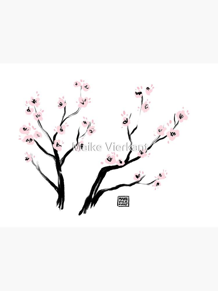 Sumi-E Cherry Blossoms by Vierkant