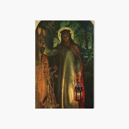 "William Holman Hunt ""The Light of the World"" Art Board Print"