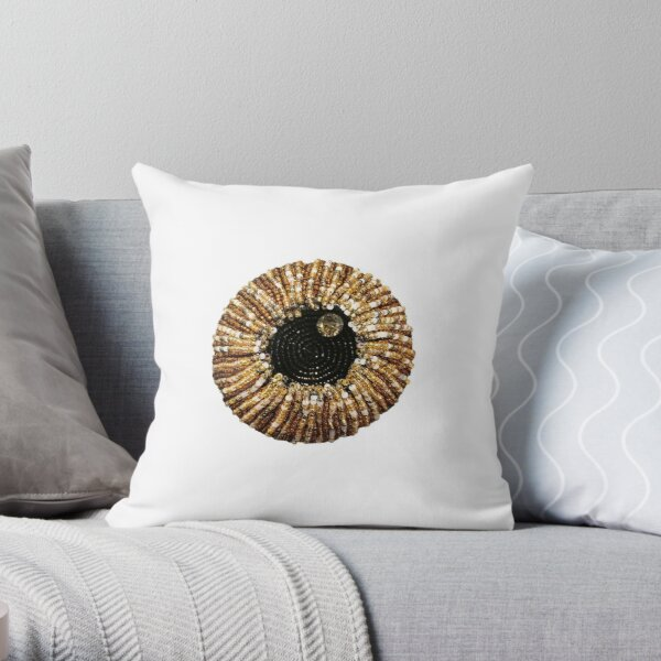 Beaded eye with a jewel of hope Throw Pillow