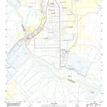 USGS TOPO Map Louisiana LA Des Allemands 20120413 TM by wetdryvac