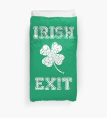Irish Exit White Clover Design Duvet Cover