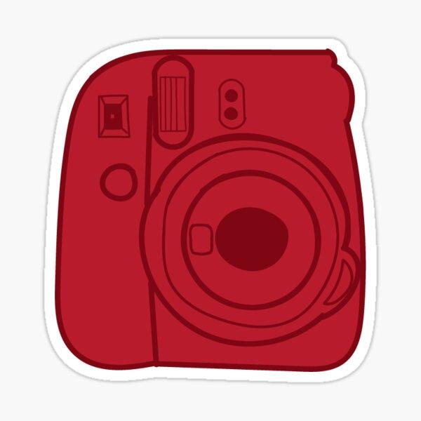 Red Camera Stickers Redbubble