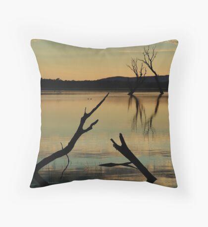 Dead Trees, Lake Fyans, Grampians. Throw Pillow