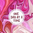 Ein Tag nach dem anderen | Wilder Marmorhintergrund von PraiseQuotes