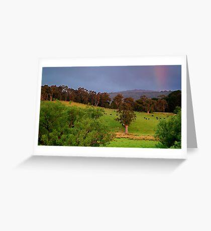 Warm Glow,Otway Farmlands Greeting Card