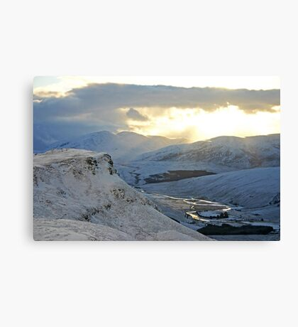 Winter Afternoon, Strath More, Sutherland Canvas Print