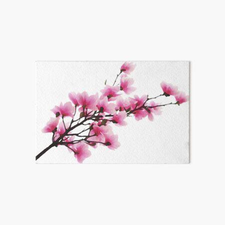 Cherry blossom watercolor Art Board Print