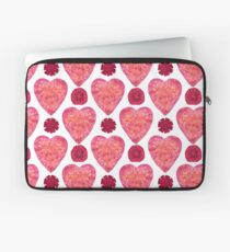Hearts and Flowers for Valentine's Day Laptop Sleeve