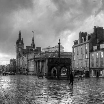 Aberdeen in the rain - B&W by tomg