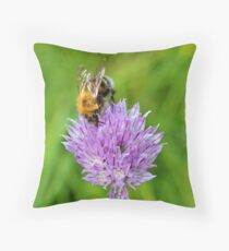 Bee & Chives Throw Pillow
