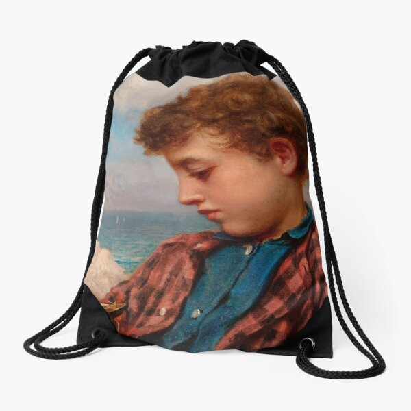 """Sophie Gengembre Anderson """"The Young Yachtsman"""" Drawstring Bag"""
