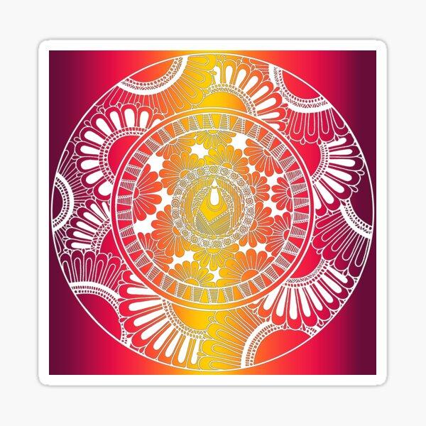 Inflorescence Mandala by SimmyGhatt Sticker