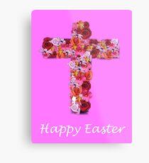 Easter Cross Metal Print