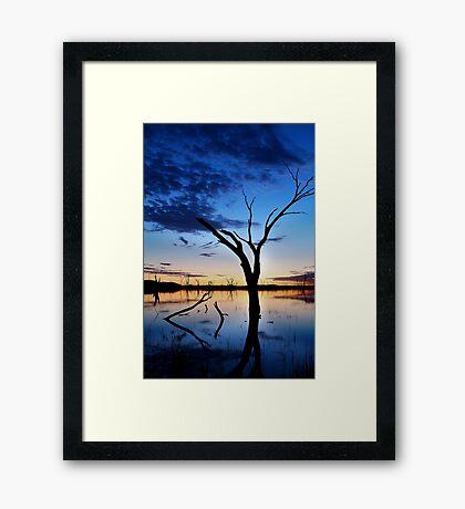 Lake Fyans, Blue Lagoon Framed Print