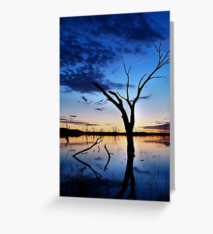 Lake Fyans, Blue Lagoon Greeting Card
