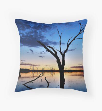 Lake Fyans, Blue Lagoon Throw Pillow