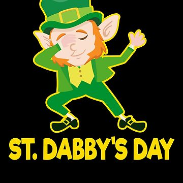 Dabbing Leprechaun Funny St Patricks Day Irish Flag Apparel by CustUmmMerch