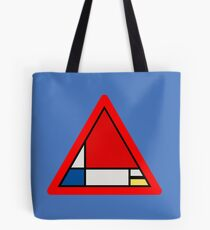 Mondrian Road Sign Tote Bag