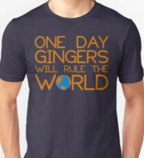 1884b86bc Funny Ginger Hair T Shirt - One Day Gingers Will Rule The World Slim Fit T