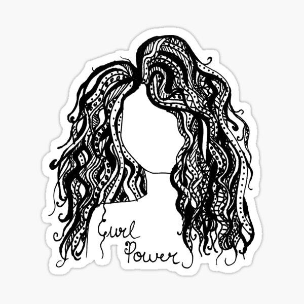 Curl Power Sticker