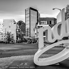 Indianapolis Skyline Cityscape - Monochrome Edition by Gregory Ballos