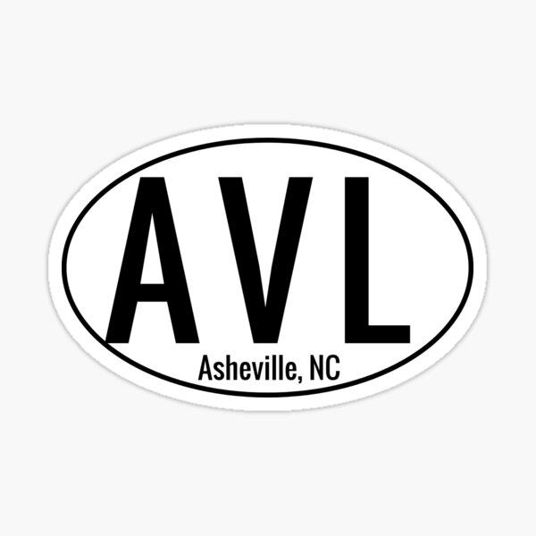 Asheville NC 3 Letter AVL Sticker