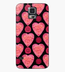 BE IN THE FLOW - VALENTINE'S HEARTS AND FLOWERS Case/Skin for Samsung Galaxy