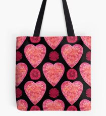 BE IN THE FLOW - VALENTINE'S HEARTS AND FLOWERS Tote Bag
