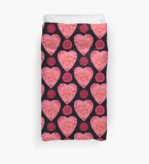 BE IN THE FLOW - VALENTINE'S HEARTS AND FLOWERS Duvet Cover