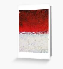 Simply Red 3 Greeting Card
