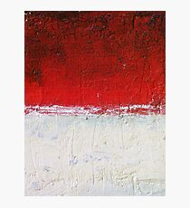 Simply Red 3 Photographic Print