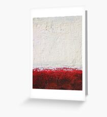 Simply Red 4 - mixed media abstract painting on canvas  Greeting Card