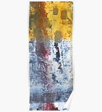 So Gradual The Grace - abstract mixed media painting on canvas Poster