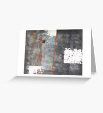 Perception of an object - abstract mixed media on canvas Greeting Card