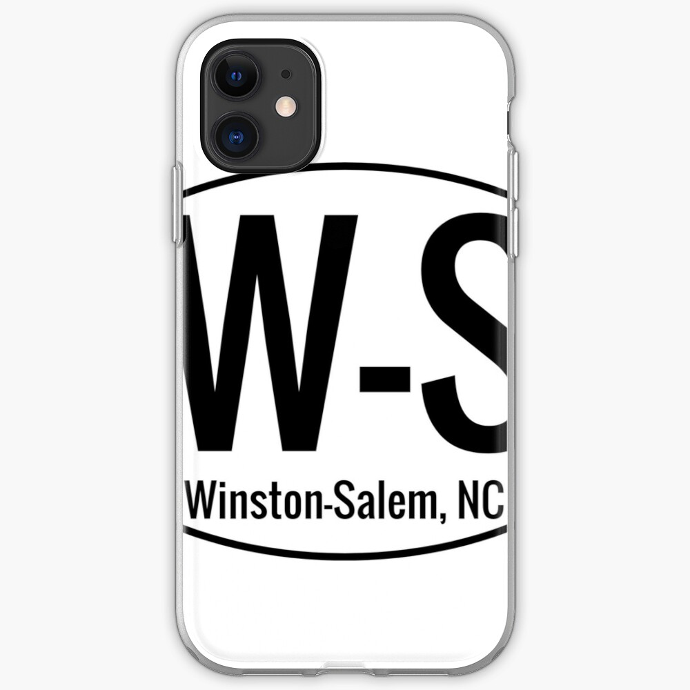 Winston-Salem W-S Location iPhone Soft Case