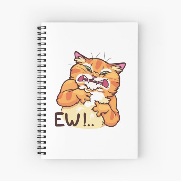 ★ Kawaii Ew! Cat Spiral Notebook
