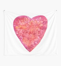 BE MY VALENTINE - watercolor heart painting Wall Tapestry