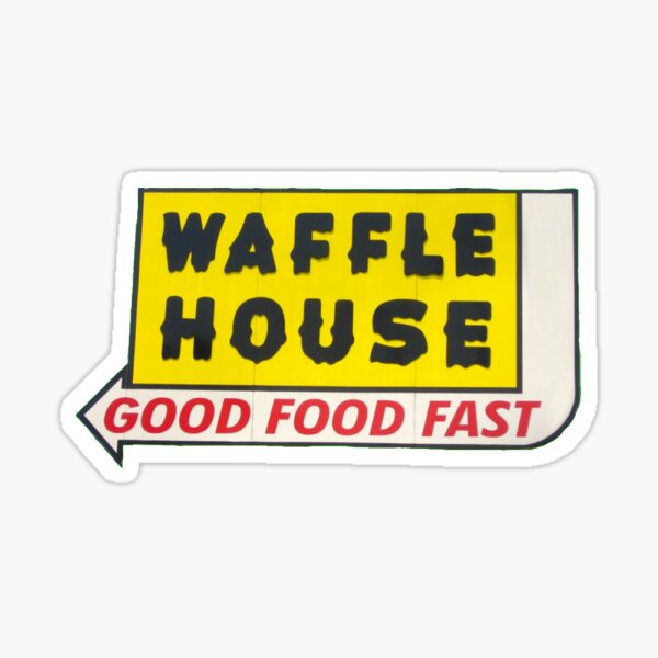 old waffle house sign Sticker