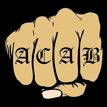ACAB Tattoo Fist by mBshirts