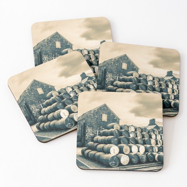 Empty Casks In The Springbank Yard Coasters (Set of 4)