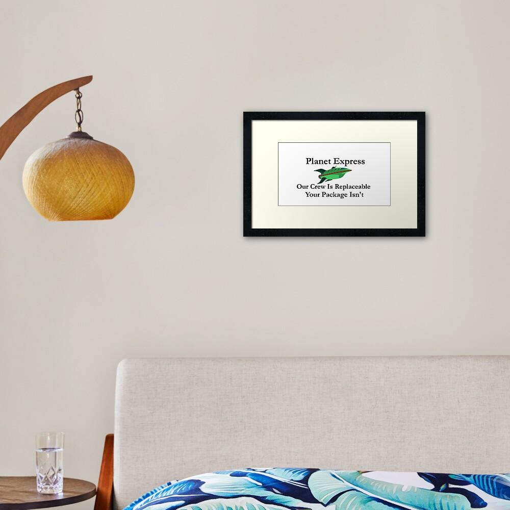 Planet Express Framed Art Print