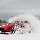 Audi S3 - Snow Drifting - 1 by Scott McKellin