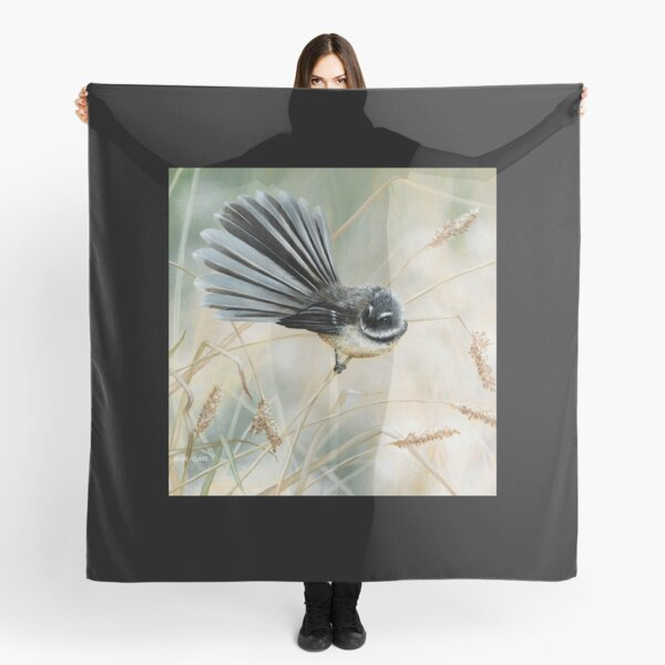 'Morning Light - Fantail' square Scarf
