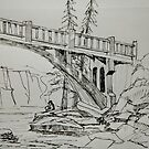 The Bridge at Minneopa State Park by Paint-and-Hike