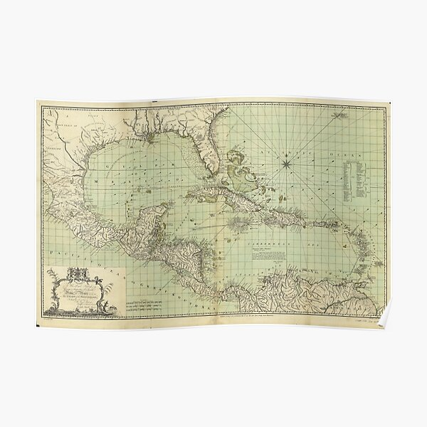 Map of the West Indies by Thomas Bowen (1774) Poster